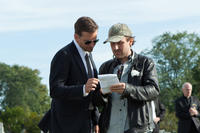 Bradley Cooper and director Derek Cianfrance on the set of
