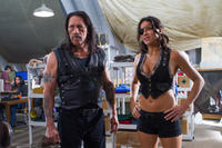 Danny Trejo as Machete and Michelle Rodriguez as Luz in
