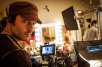 Director Robert Rodriguez on the set of