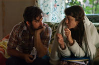 Director James Ponsoldt and Mary Elizabeth Winstead on the set of