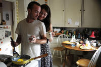 Aaron Paul as Charlie Hannah and Mary Elizabeth Winstead as Kate Hannah in