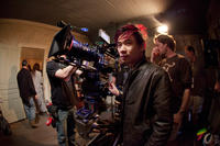 Director James Wan on the set of