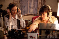 Vera Farmiga as Lorraine Warren and Shannon Kook as Drew in