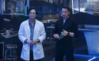 Mark Ruffalo as Bruce Banner and Robert Downey, Jr. as Tony Stark in
