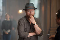 Director Joss Whedon on the set of