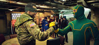 Jim Carrey as Colonel Stars and Stripes and Aaron Johnson as Kick-Ass in