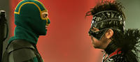 Aaron Johnson as Kick-Ass and Christopher Mintz-Plasse as The Motherf--ker in