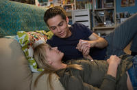 Britt Robertson as Aubrey and Dylan O'Brien as Dave in