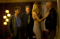 Al Pacino as Val, Christopher Walken as Doc, Katheryn Winnick as Oxana and Alan Arkin as Hirsch in
