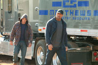 Jon Bernthal and Dwayne Johnson in