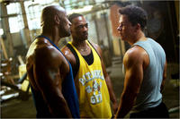 Dwayne Johnson, Anthony Mackie and Mark Wahlberg in