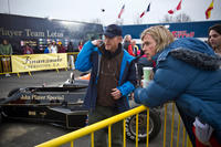 Director Ron Howard and Chris Hemsworth on the set of