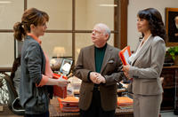 Tina Fey as Portia Nathan, Wallace Shawn as Clarence and Gloria Reuben as Corinne in