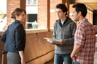Tina Fey as Portia Nathan, Nat Wolff as Jeremiah Balakian and Paul Rudd as John Pressman in