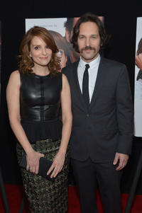 Tina Fey and Paul Rudd at the New York premiere of