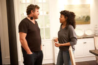 Director Sam Miller and Taraji P. Henson on the set of