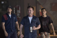 Ramon Rodriguez, Aaron Paul and Rami Malek in