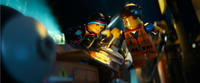 Wyldstyle voiced by Elizabeth Banks and Emmet voiced by Chris Pratt in