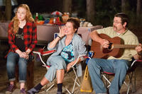 Molly Quinn as Melissa Fitzgerald, Kathryn Hahn as Edie Fitzgerald and Nick Offerman as Don Fitzgerald in