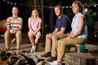 Will Poulter as Kenny Rossmore, Emma Roberts as Casey Mathis, Jason Sudeikis as David Clark and Jennifer Aniston as Rose O'Reilly in
