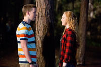 Will Poulter as Kenny Rossmore and Molly Quinn as Melissa Fitzgerald in