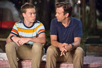 Will Poulter as Kenny Rossmore and Jason Sudeikis as David Clark in