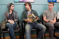 Emma Roberts as Casey Mathis, Jason Sudeikis as David Clark and Will Poulter as Kenny Rossmore in