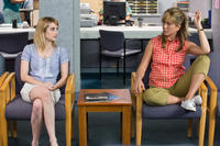 Emma Roberts as Casey Mathis and Jennifer Aniston as Rose O'Reilly in