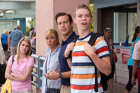 Emma Roberts as Casey Mathis, Jennifer Aniston as Rose O'Reilly, Jason Sudeikis as David Clark and Will Poulter as Kenny Rossmore in