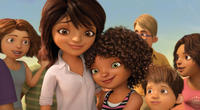 Tip voiced by Rihanna and Lucy voiced by Jennifer Lopez in