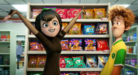 Selena Gomez voices Mavis and Andy Samberg voices Jonathan in