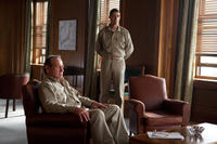 Tommy Lee Jones as General Douglas MacArthur and Matthew Fox as General Bonner Fellers in