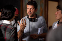 Director Peter Webber on the set of