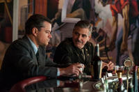 Matt Damon and George Clooney in