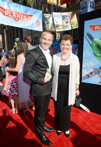 Roger Craig Smith and guest at the World premiere of