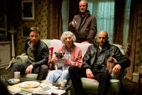 James McAvoy as Max Lewinsky, Ruth Sheen as Iris Warns, Peter Mullan as Roy Edwards and Mark Strong as Jacob Sternwood in