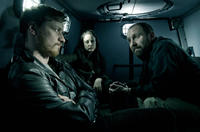 James McAvoy as Max Lewinsky, Andrea Riseborough as Sarah Hawks and Johnny Harris as Warns in
