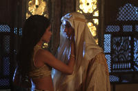 Freida Pinto as Princess Leyla and Tahar Rahim as Prince Auda in