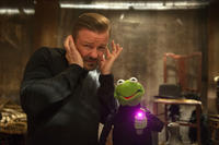 Ricky Gervais as Dominic Badguy and Kermit The Frog voiced by Steve Whitmire in