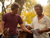 Director Jeff Nichols and Matthew McConaughey on the set of