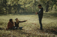 Ellen Page, Brit Marling and director Zal Batmanglij on the set of