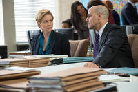 Laura Linney as Sarah Shaw and Stanley Tucci as James Boswell in