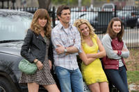 Sarah Wright as Denise, James Marsden as Gordon, Elizabeth Banks as Meghan Miles and Gillian Jacobs as Rose in