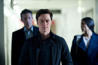 Vincent Cassel as Franck, James McAvoy as Simon and Rosario Dawson as Elizabeth in
