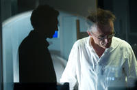 Vincent Cassel and director Danny Boyle on the set of