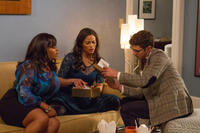 Jill Scott as Gail, Paula Patton as Montana Moore and Adam Brody as Sam in