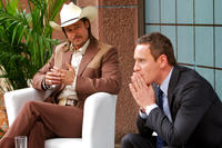 Brad Pitt as Westray and Michael Fassbender as The Counselor in
