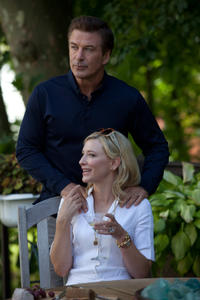 Alec Baldwin as Hal and Cate Blanchett as Jasmine in