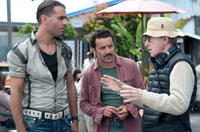 Bobby Cannavale, Max Casella and director Woody Allen on the set of