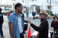Bobby Cannavale and director Woody Allen on the set of